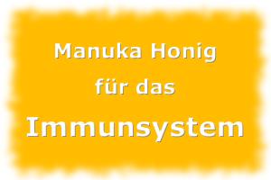 Manuka Honig für das Immunsystem